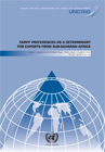 Tariff Preferences as a Determinant for Exports from Sub-Saharan Africa