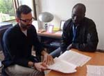 Vi fellow, Serigne Bassirou Lo (right) with UNCTAD mentor, Piergiuseppe Fortunato