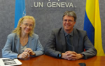 Vi Chief, Vlasta Macku (left) and Jan Hoffmann, of UNCTAD's Division on Technology and Logistics