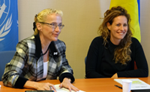 Virtual Institute Chief, Vlasta Macku (left) and UNCTAD's Noelia Garcia Nebra
