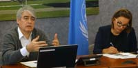UNCTAD's Alfredo Calcagno (left) and Vi's Eveliina Kauppinen