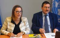 Vi's Eveliina Kauppinen (left) and UNCTAD's Kalman Kalotay