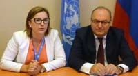 Vi's Eveliina Kauppinen (left) and UNCTAD's Astrit Sulstarova