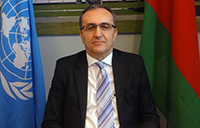 UNCTAD's Igor Paunovic presents TDR during videoconference for Belarusian Vi university member
