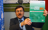 UNCTAD's Kalman Kalotay discusses findings of WIR 2017 with Vi Belarusian university member