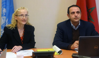Virtual Institute Chief, Vlasta Macku (left) and UNCTAD's Mohamed Chiraz Baly